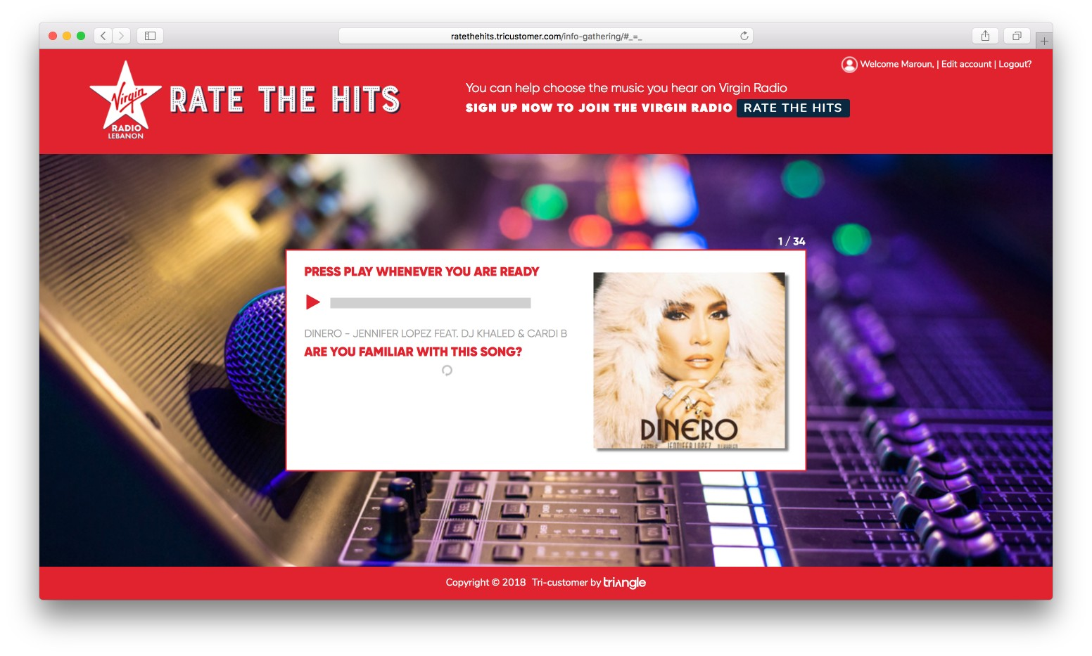 Rate the hits - Virgin Radio Lebanon